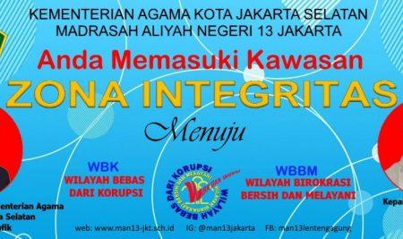 MAN 13-Sebagai Madrasah Pilot Project Zona Integritas 2021